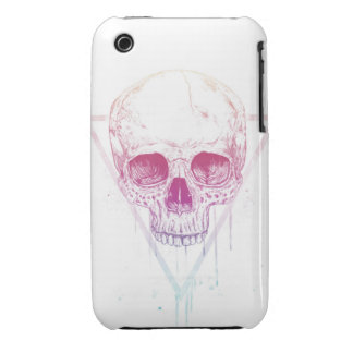Skull in triangle iPhone 3 case