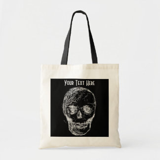 Skull in White Tote Bag