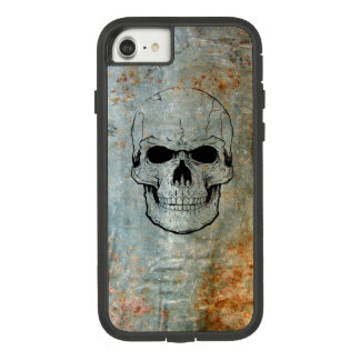 Skull Inked Onto Rusty Metal Iphone 7/8 Case
