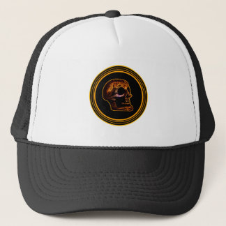SKULL - Inside Stone Background Mango Color Trucker Hat