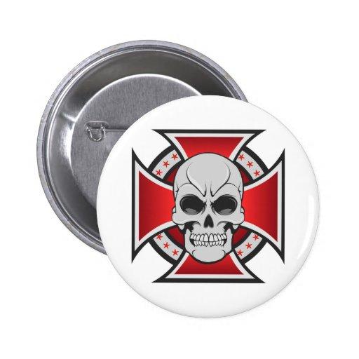 Skull & Iron Cross: Vector Drawing: Pins