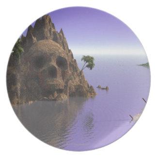 Skull island plate