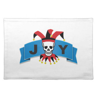 skull joy of banner placemat