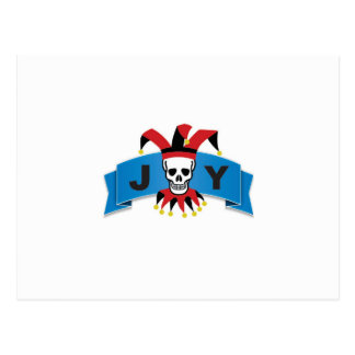 skull joy of banner postcard