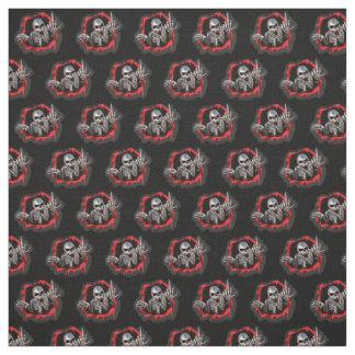 Skull jump out at ya pattern fabric