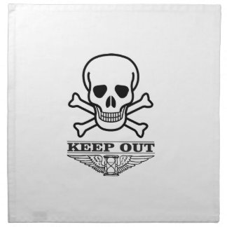skull keep out napkin