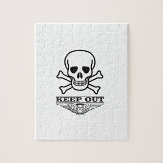 skull keep out puzzle