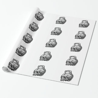 Skull kettle wrapping paper