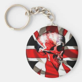 Skull keychain (Union Jack)