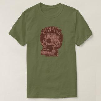 SKULL Keyhole -Brick Red Distressed Logo Look T-Shirt