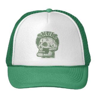 SKULL Keyhole -Faded Pine Green Distressed Logo Cap