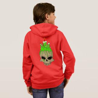 Skull Kids' Basic Zip Hoodie, Grey Heather Hoodie