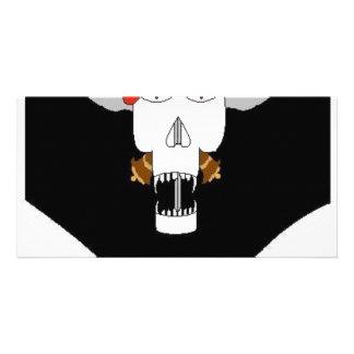 Skull & Kukris Customized Photo Card