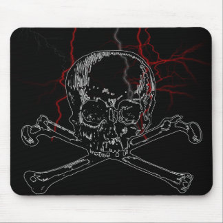 skull lightning mouse pad