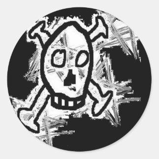 Skull Logo Classic Round Sticker