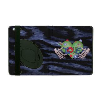 SKULL LOVE BLEU CUTE  iPad 2/3/4  Kickstand iPad Case