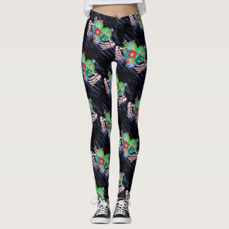 SKULL LOVE MONSTERS CARTOON Leggings