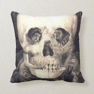 "Skull Love, Optical Illusion 20"" Throw Pillow Sq"