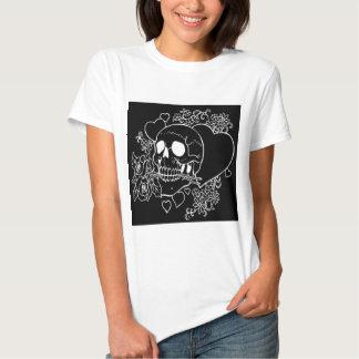 Skull Love - Skulls, Roses and Hearts by Al Rio T Shirts