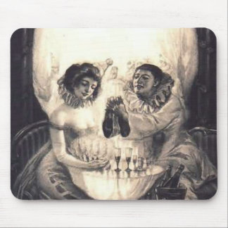 Skull Love, Victorian Optical Illusion Mouse Pad