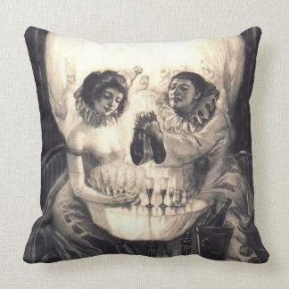 Skull Love, Vintage Victorian Optical Illusion Cushion