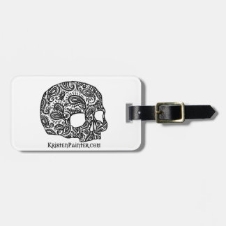 Skull luggage tag