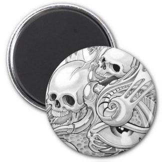 skull refrigerator magnet
