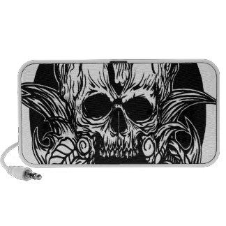 skull mantle doodle speakers