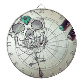 Skull marker logo dartboard