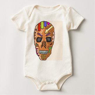 Skull Mask Painted Sketch Baby Bodysuit