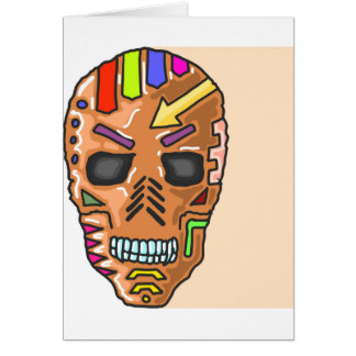 Skull Mask Painted Sketch Card