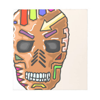 Skull Mask Painted Sketch Notepad