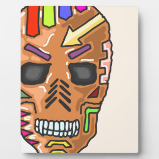 Skull Mask Painted Sketch Plaque