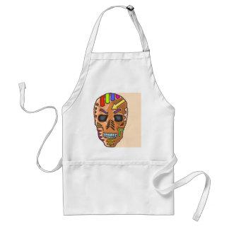 Skull Mask Painted Sketch Standard Apron