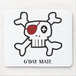 Skull Mate Mouse Pad