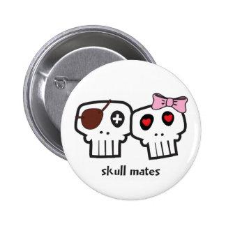 Skull Mates 6 Cm Round Badge