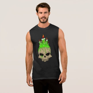 Skull Men's Ultra Cotton Sleeveless T-Shirt