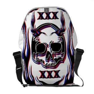 Skull Courier Bag