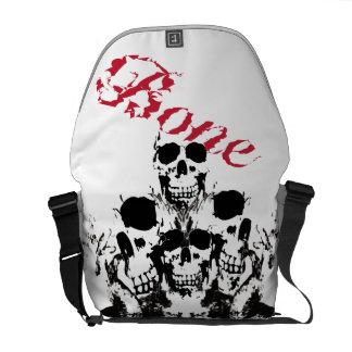 skull messengerbag commuter bag
