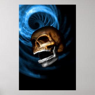 Skull-Metallic Poster