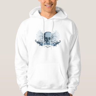 Skull montage - blue hoodie