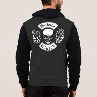 Skull, Motorcycle Suicide Clutch, Revolvers, Hoodie