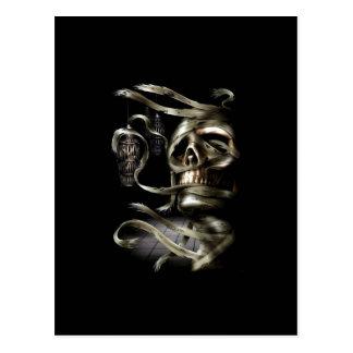 Skull Mummy Post Card