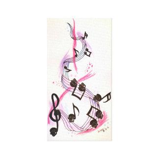 Skull Music Canvas Print