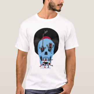 Skull Music with Eyeballs T-Shirt