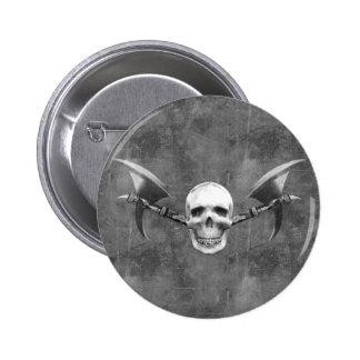 Skull N Axes Button