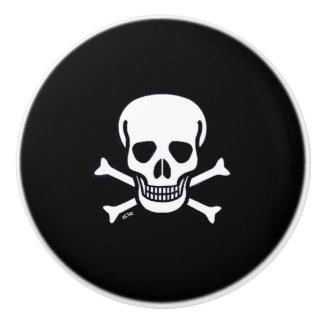 Skull n Bones black ceramic knob
