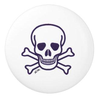 Skull n Bones ceramic knob