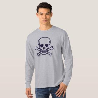 Skull n Bones gray long sleeve shirt