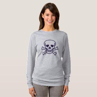 Skull n Bones gray women long sleeve shirt